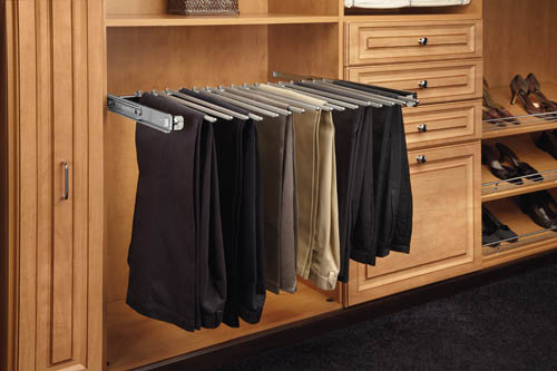 Closet Anizer With Baskets Pants Rack Solid Wood